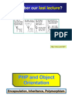 Lecture 17 PHP Object Orientation
