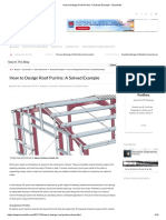 How to Design Roof Purlins_ a Solved Example - Structville