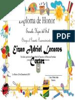 Diploma de Honor Pre Kinder
