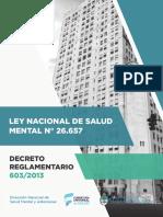 Ley Nacional Salud Mental Decreto Reglamentario