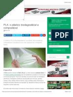 PLA o Plástico Biodegradável e Compostável