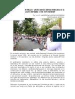 Artículo, Incidencia de Los Sindicatos en La Construcción de Tejido Social en Colombia