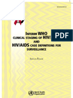 WHO HIV Clinical Staging Guidelines