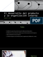 El Desarrollo Del Producto y La Organización Interna