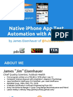 Native iPhone App Test Automation With Appium - mobile