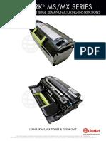 Lexmark_MS_MX_Series Remanufactura Toner y Cilindro