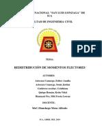 REDISTRIBUCION DE MOMENTOS FLECTORES