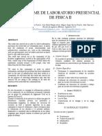 Informe de Laboratorico Fisica II