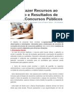 Como Fazer Recursos ao Gabarito e Resultados de Provas Concursos Públicos.docx