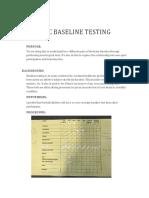 athletic baseline testing