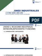 Unidad 1 Relaciones Industriales Definicion, Antecedentes y Funciones (1)