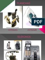 objetos tecnológicos antiguos y actuales