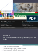 Sesión 3 La Monarquía Romana y la conquista de Italia