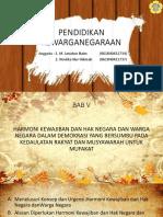 Bab 5 Harmoni Kewajiban Dan Hak Negara Dan Warga Negara Dalam Demokrasi Yang Bersumbu Pada Kedaulatan Rakyat Dan Musyawarah Untuk Mufakat