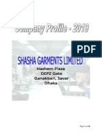 Shasha Garments Business Profile _2019