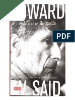 Edward W. Said El estilo tardio instroduccion
