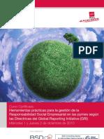 Curso directrices GRI -camara de Comercio de Madrid y Madrid Excelente
