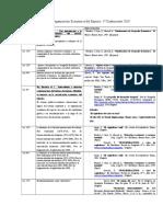 Cronograma de clases Organiz. Economica del Espacio 1° Cuatrim. 2019