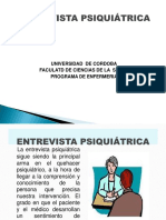 ENTREVISTA PSIQUIATRICA