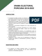 Programa Electoral PSOE Porcuna 2019