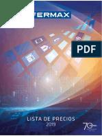 201905 Fermax Lista de Precios 2019 Pu01577
