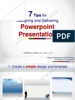 7 Tips for Designing & Delivering PPT