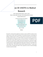 Application of Anova in Medical Research
