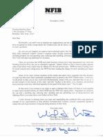 Nfib Wfp Letter
