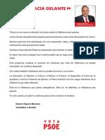 Programa Electoral Lectura Fácil PSOE Villafranca de los Barros