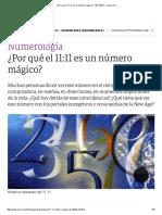 ¿Por Qué El 11_11 Es Un Número Mágico_ - 09-11-2017 - Clarín