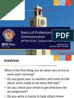 UNIT 1 - Basics of Professional Communication