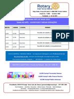 Programa Mês de Maio 2019