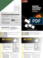Micro Ceramic HeaterHeaters Series