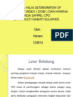 Analisa Nilai Deterioration of Bleachability Index (.pptx