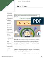 NPV vs IRR - Which is Better_ - WallStreetMojo