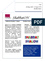 shabbaton - 18 may