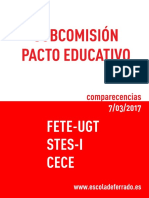 UGT Pacto Educativo 2017