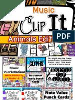 Music Clip It Animals Edition