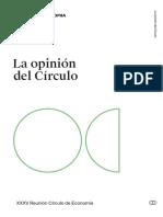 Opinión de Actualidad Del Cercle d'Economia