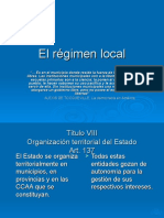 El Regimen Local