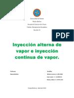 inyección  alterna de vapor e inyección continua de vapor