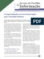 CIP. Compreendendo Os Novos Termos Legais Para Actividade Mineira