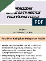 PPT Kuliah Perizinan Salah Satu Bentuk Pelayanan Publik