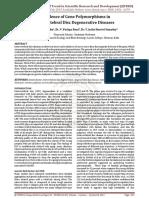Prevalence of Gene Polymorphisms in Intervertebral Disc Degenerative Diseases