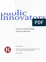 Forces for Social Change and Civic Renewal