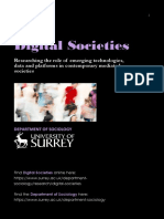 Digital Societies at Surrey Sociology