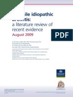 Juvenile Idiopathic Arthritis Literature Review