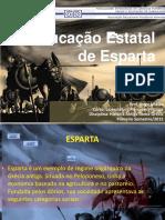 A Educação Estatal de Esparta