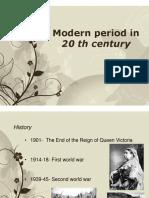 Modern period in 20th century