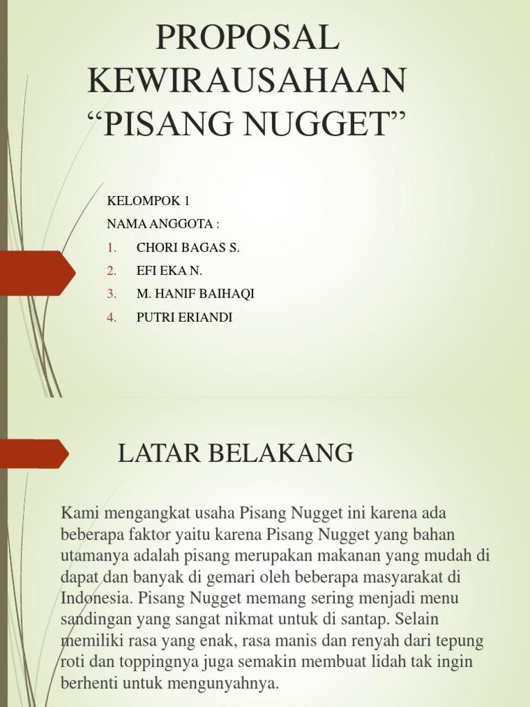Proposal Kewirausahaan Pisang Nugget